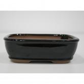 Vaso ovale nero 21 cm