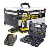 Trapano a percussione 18V 2.0Ah + Kit 50 accessori + cassa Stanley Fatmax FMCK625D2F-QW