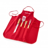 Set 4 pezzi + grembiule Barbecook