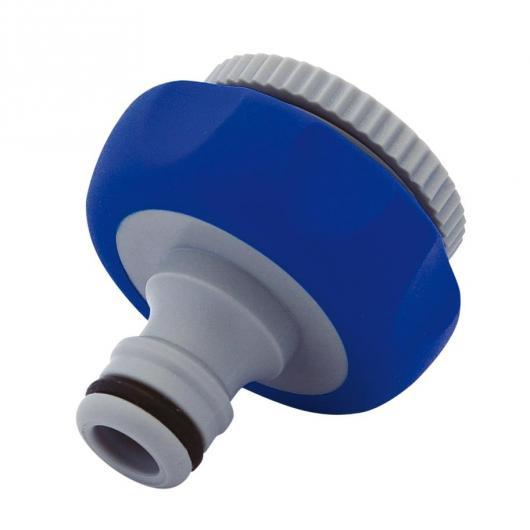 Adaptateur de robinet bimatière avec filetage femelle 13 mm + 19 mm Aquacontrol