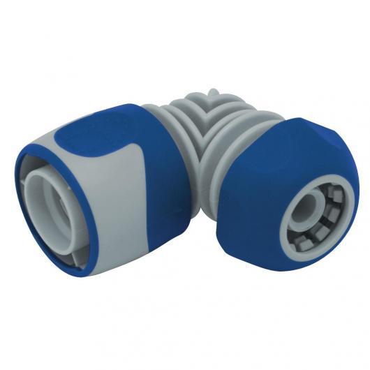 Connecteur rapide coudé bi-matière 15 mm AQUACONTROL