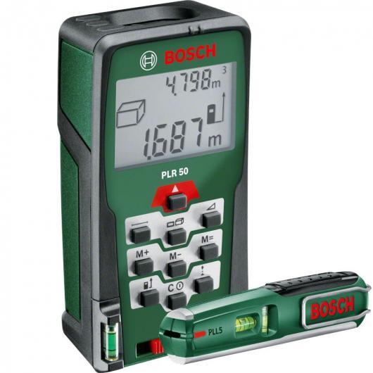 Distanziometro laser Bosch PLR 50 + PLL 5