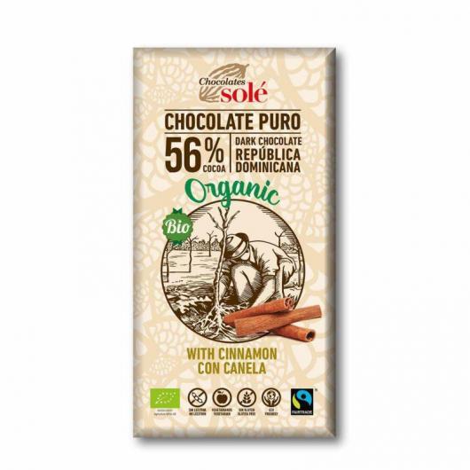Chocolat à la cannelle 56% Solé, 100 g