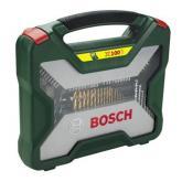 Valigetta Bosch X-line di 100 pezzi per trapani e avvitatori (titanio)