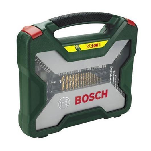 Maletín Bosch X-line de 100 unidades para taladrar y atornillar (Titanium)
