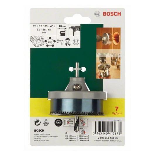 Set Bosch di 7 seghe per legno e PVC