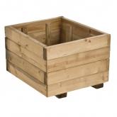 Jardinera madera cuadrada 30L.