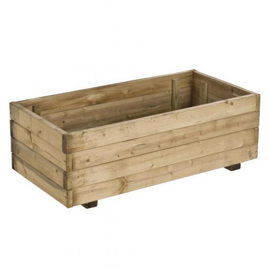 Fioriera legno reattangolare 63L