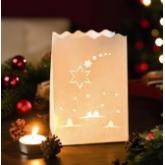 Luzes de papel estrela de natal pequena, 10 ud