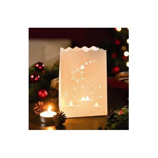 Lampes en papier étoile de Noël, 10 petites pièces