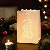 Luzes pequenas de papel árvore de natal, 10 ud