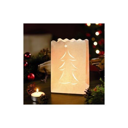 Lanterna di carta bianca albero di Natale 10 unità piccole