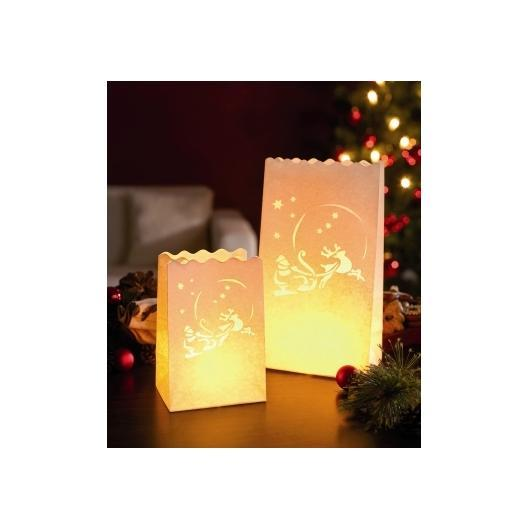 Lampadaire en papier Santa Claus 4 grandes pièces + 4 petites pièces