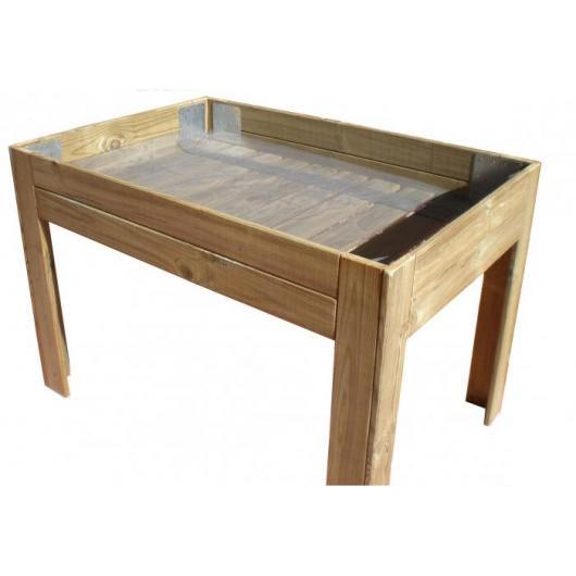 Table de culture en bois modèle L bas