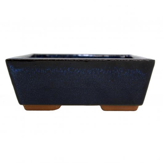 Pot à bonsaï rectangulaire bleu foncé 16 cm