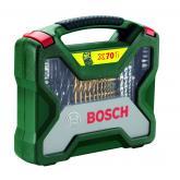 Valigetta Bosch X-line 70 pezzi per trapani e avvitatori