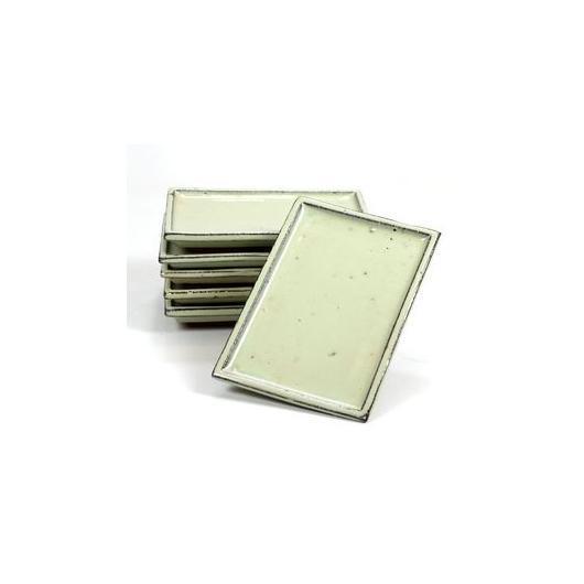Plaque en céramique rectangulaire bords droits couleur crème
