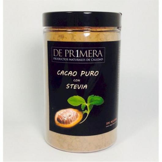 Cacao Puro con Extracto de Estevia De Pr1mera, 150 gramos