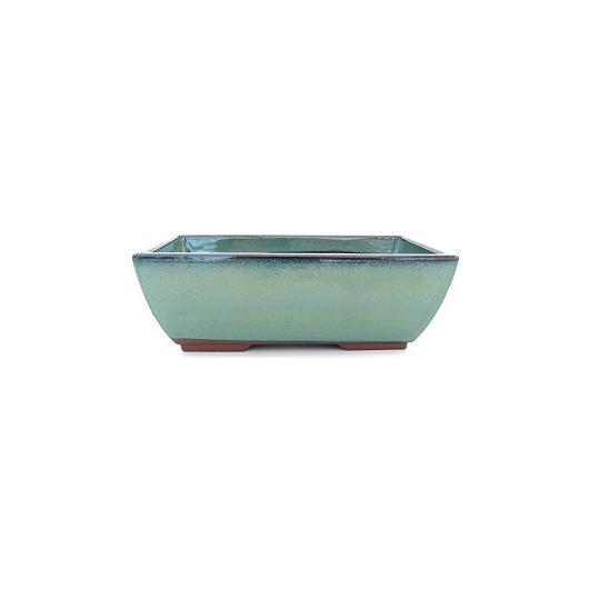 Vaso rettangolare turchese 13.2 cm