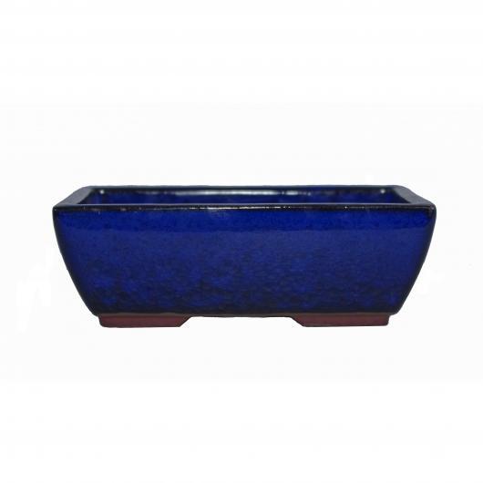 Vaso rettangolare blu 13.2 cm