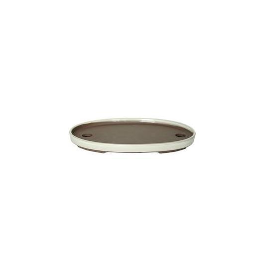 Pot pour bonsaï paysage ovale couleur crème