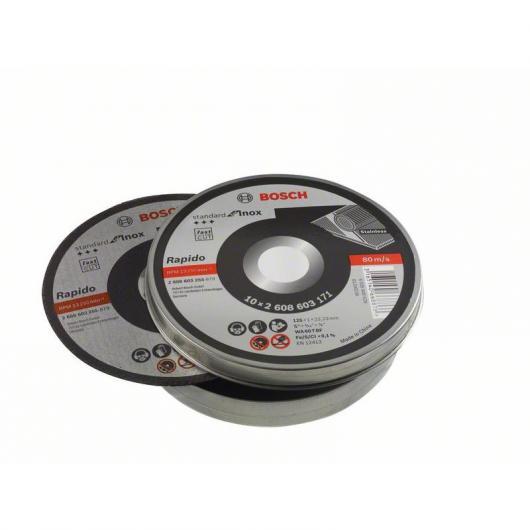 Set de 10 discos de corte Bosch para amoladora 125 mm para para metales inoxidables