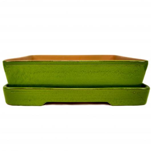 Vaso Naka + Piatto verde lime
