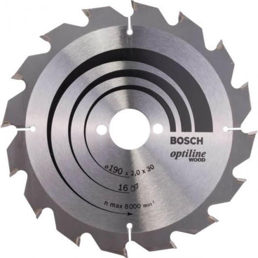 Disco corte madera para Sierra circular 190x30 mm