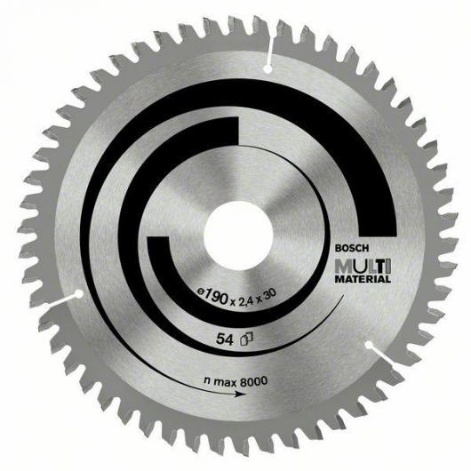 Disque de coupe tous matériaux pour scie circulaire 190 x 30 mm
