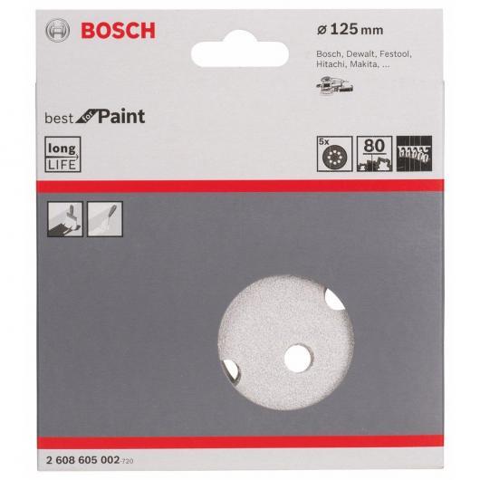 5 lijas para lijadoras excéntricas para pintura 125 mm