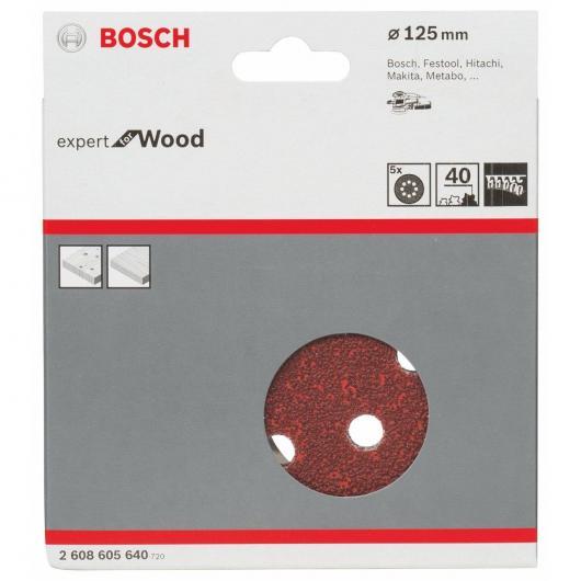 5 lijas para lijadoras excéntricas para madera 125 mm