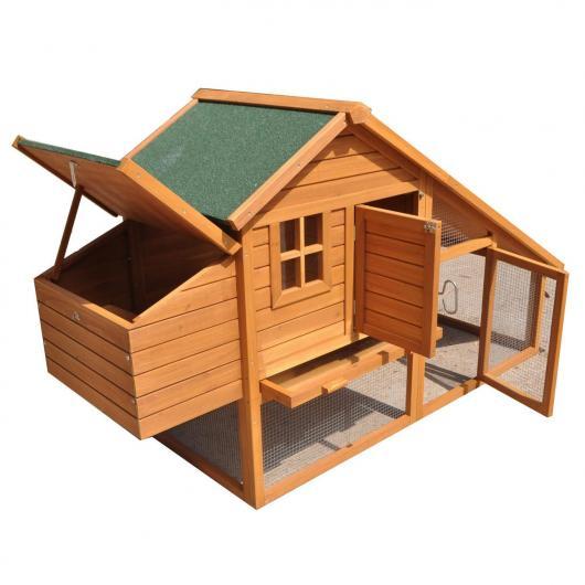 Gallinero madera amsterdam por 189 95 en planeta huerto - Como hacer caseta de madera ...