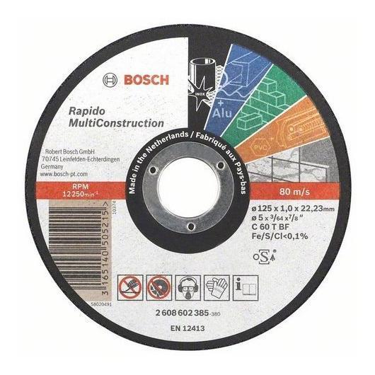 Disco da taglio multimateriale 125 mm