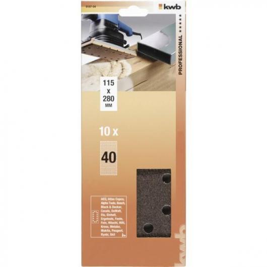 10 lijas para Lijadora Orbital 115x280 mm