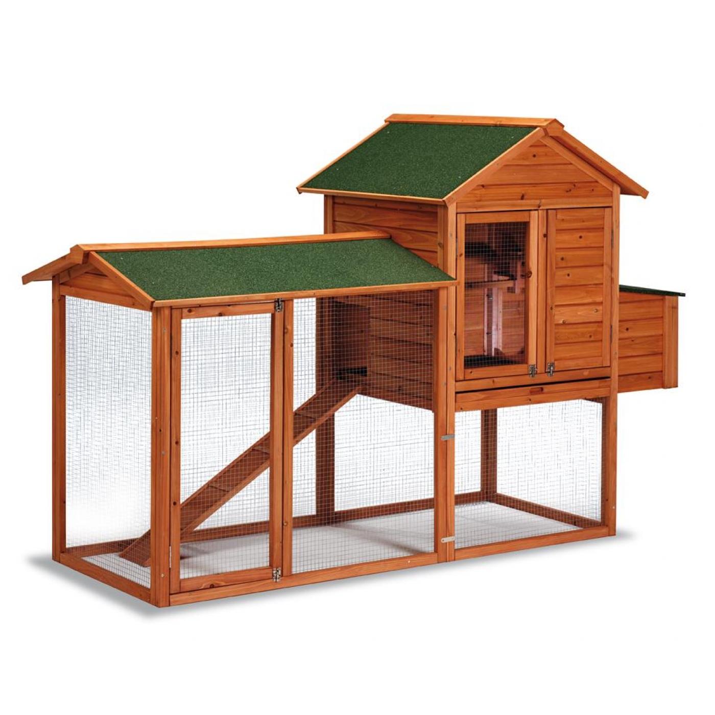 Gallinero madera dubl n por 299 95 en planeta huerto - Prefabricados de madera ...