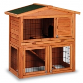 Prague wooden rabbit hutch