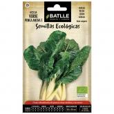 Semillas ecológicas de Acelga verde de penca blanca 3