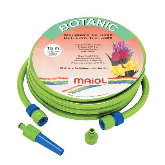 Manguera Látex Botanic 15mm 25m Kit Completo