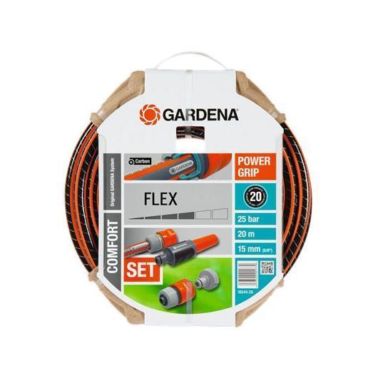 Set Manguera Flex Gardena 15mm 20m