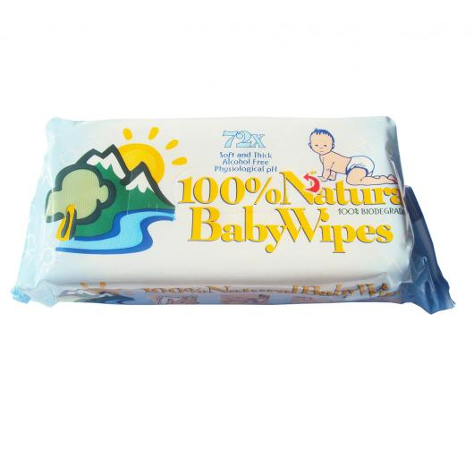Lingettes humides BabyWipes 72 pièces