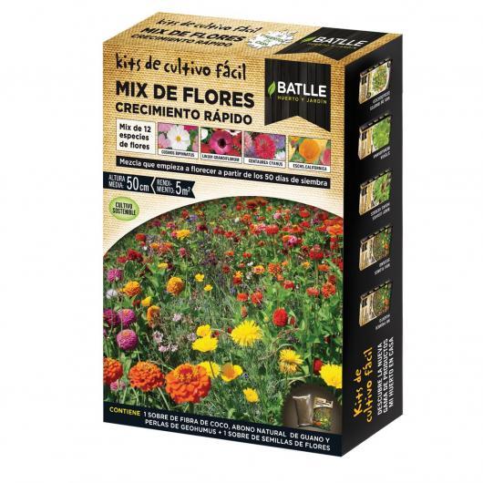 Kit de culture mélange de fleurs à croissance rapide