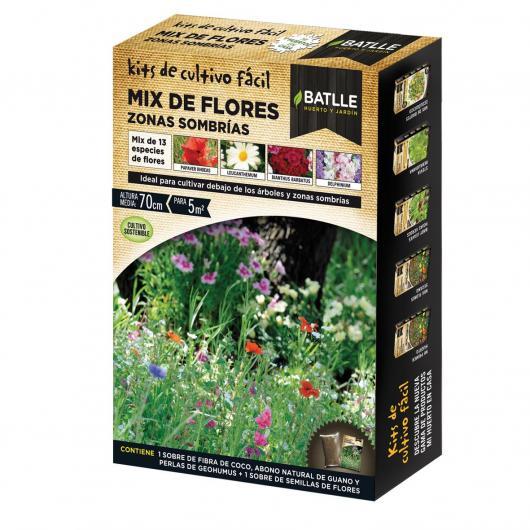 Kit de culture mélange de fleurs endroits ombragés