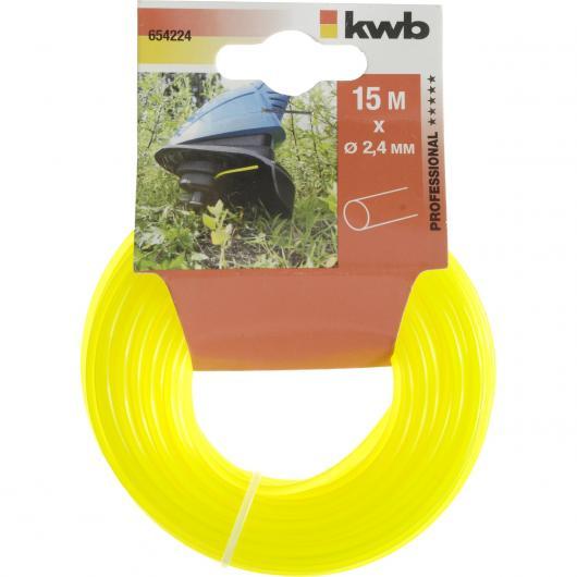 Fil en nylon pour coupe-bordures 2,4 mm