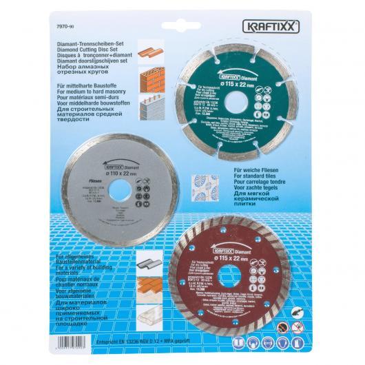 Set de discos de corte diamante Kwb