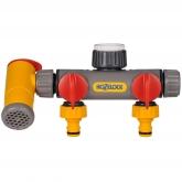 Connettore con due rubinetti  Flowmax Hozelock