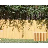 Brise-vue ovale en plastique Plasticane couleur bambou