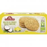 Biscotti di cereali con cocco e sapore di limone, Natursoy, 130 g