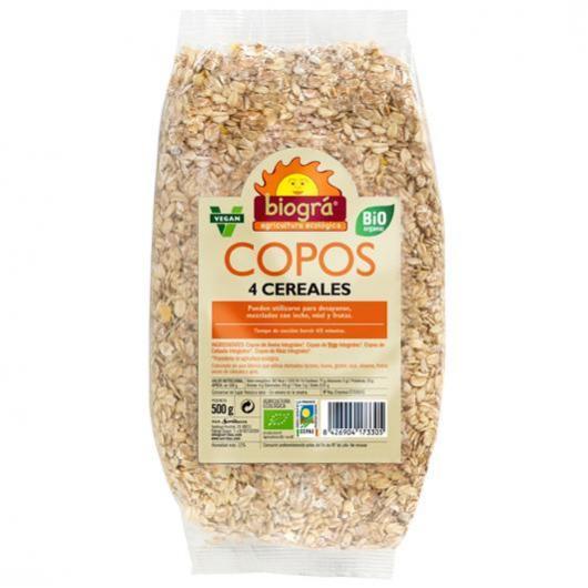 Copos 4 cereales ,500gr,  Biográ