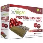 Barrette mirtillo e chia BIO protein antiossidante Bevegan, 6 barrette x 36 g