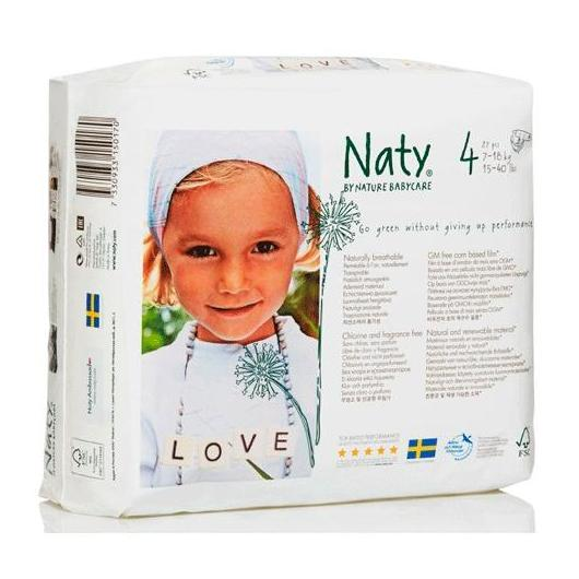 Couches n°4 Naty 7-18 kg, 27 pièces